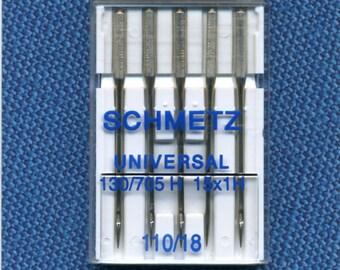 Standard needles Schmetz n. 110 for sewing machine