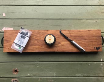 Blackwood charcuterie board. Timber salvaged from Sydney woolsheds (late 1800's) - SERIAL# CF0028