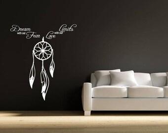 Dream catcher decal, wall decal, dream catcher decor , wall decor , wall art