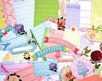 Embellishments - Die cut - appointment/banner/Fleur/Butterfly - 30 pcs - Toga - new