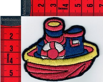 Boat badge embroidered iron or sew. Patch applique