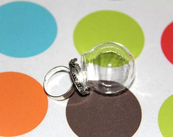 The base ring more silver flask