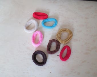 set of 8 hair scrunchies