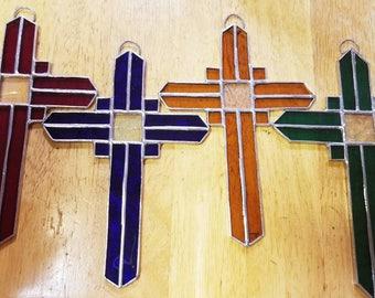 Stained Glass Crucifix Suncatchers