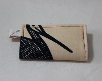 Card holder/African wax fabric and faux leather - Korhogo