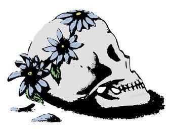 Flower Crowned Skull