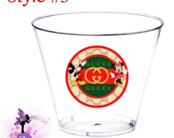 Additional Clear Cups for the  Inspired Dinnerware Packages -With or without Mickey and Minnie Mouse | Designer Inspired