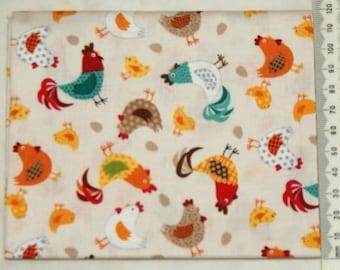 "Fabric - ""Jolly farm"" - Makower 01"