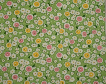 """Retro green patchwork fabric - 30 years - 16 """"Storybook Playtime"""""""