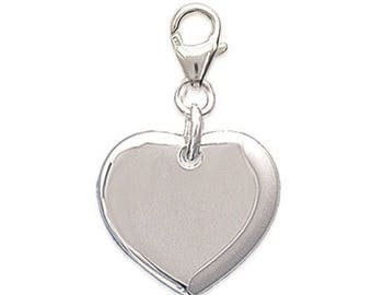 Heart Silver 925/000 lobster charm