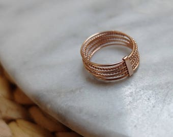MULTISTRAND Elisa ROSE gold ring