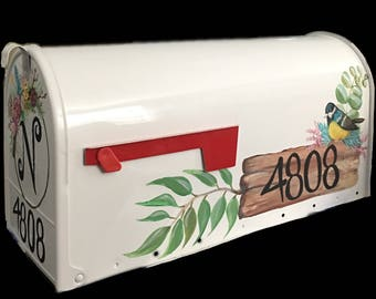 Custom hand painted large mailbox
