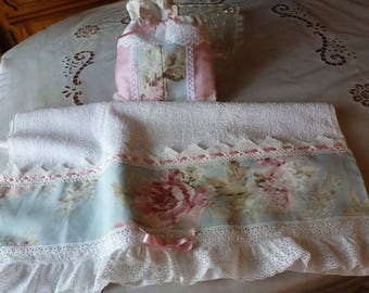 TOWEL toilet and its purse - creating Shabby Chic
