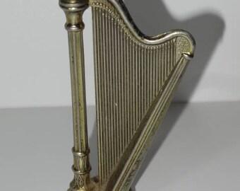 VINTAGE BRASS Model of a Harp