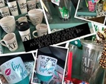 Custom Vinyl Cups, Mugs, etc.