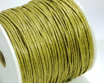 5 m of 1 mm beige waxed cotton cord