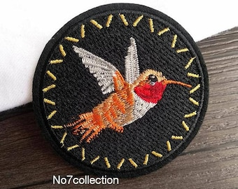 Vintage Bird Badge Embroidered Patch