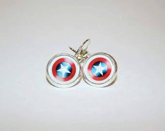 Captain America Stirling Silver earrings