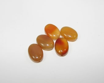 Set of 5 natural agate oval 14.00 10.00 mm. (9790987)