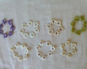 Flowers and stone bracelet.