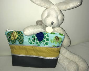 Small toiletry bag elephant boy or girl