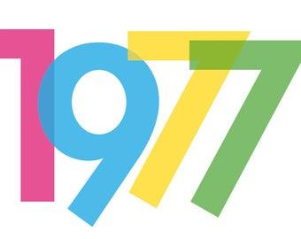 Einladung zum 40. Geburtstag: 1977