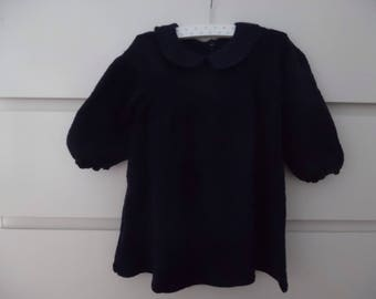 Dark blue knitted dress size 18 months