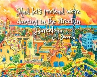 Barcelona- Ed Sheeran Print