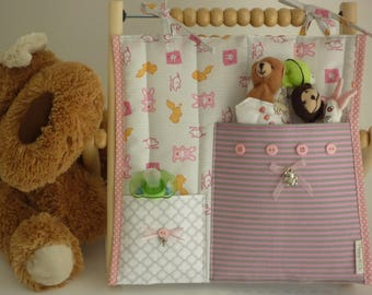 Tray cloth pink bunnies