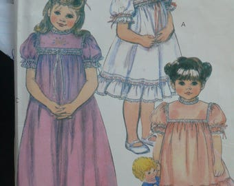Girl's Dress, Slip Pattern, Becky Smith Pattern - Vintage McCalls pattern 8306 - Size 6X