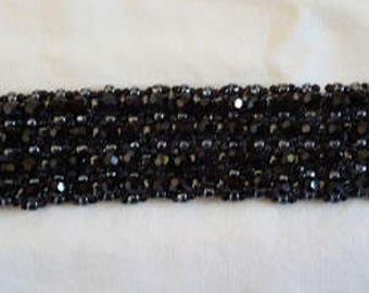 Black Swarovski bead bracelet