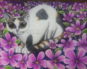 "Tilly"" Original cat painting"
