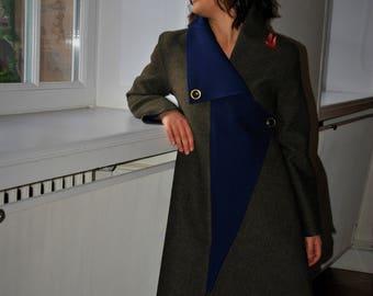 Wool coat long Marlise