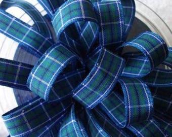 plaid fabric Ribbon code 1061 DOUGLAS 7 mm