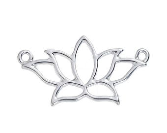x 1 26 mm silver plated lotus connector.