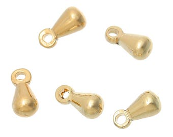 x 10 7 mm color gold tone metal drop charm pendants.