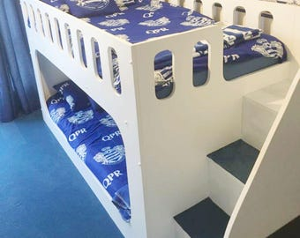 Children's Theme Bunk Beds - with safety stairs to the right - Hand Made in Warwickshire