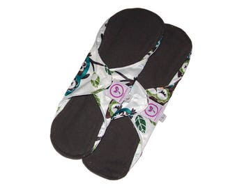 Reusable Bamboo Charcoal Heavy Flow Cloth Sanitary Pads