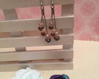 Crystal dangling earrings