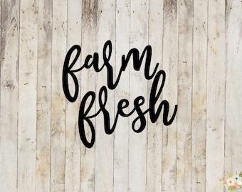 Farm Fresh Decal
