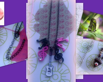 SET of 5 thin necklaces... a plume of fancy cheap!