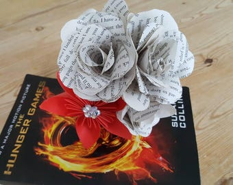 Hunger Games inspired 4 paper flower bouquet