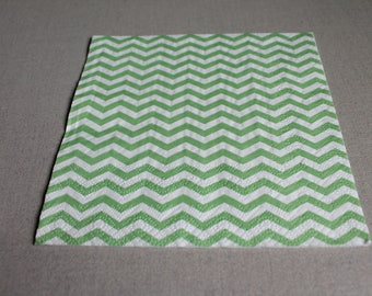 Green with chevrons of colored paper towel