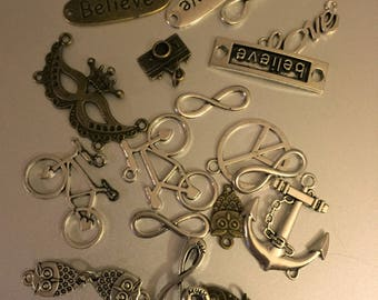 DIY 20  piece assorted Charms
