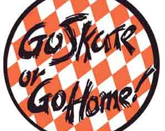 "Vintage Style 1980's ""Go Skate Or Go Home""  skating skateboard skateboarding  California  California      Travel Decal bumper sticker"