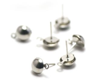 20 Stud 14 x 8 mm Silver Earring dangle earrings