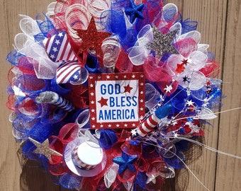 Patriotic Holiday Wreaths