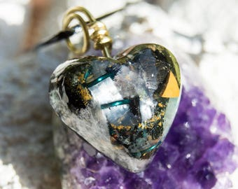Crystalline Orgone Pendant Necklace - Life Force Generator 528hz /  EMF Protection - Artisan Jewelry