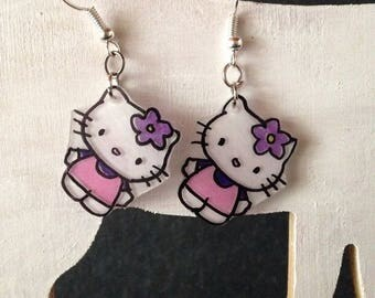 "Fancy with a famous cat plastic earrings crazy ""Idea Christmas"""