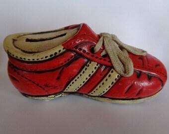 Vintage Enesco Sneaker Shoe Piggy Bank Figurine